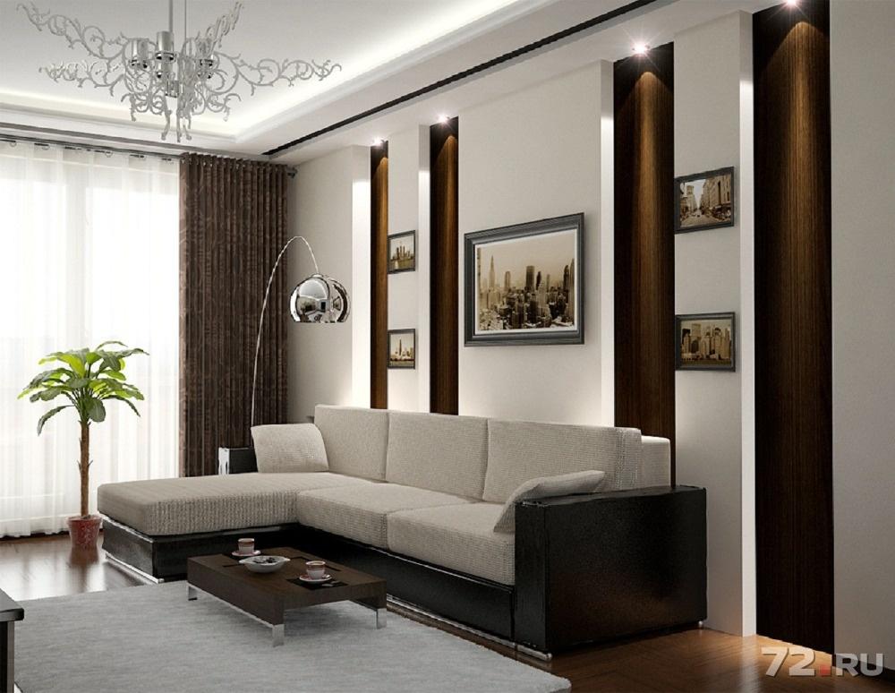 Дизайн интерьера гостиной в квартире 18 кв.м