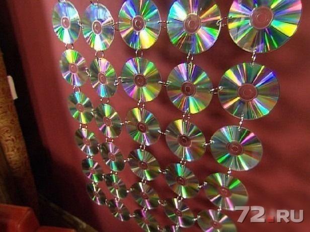 Красивые поделки из дисков