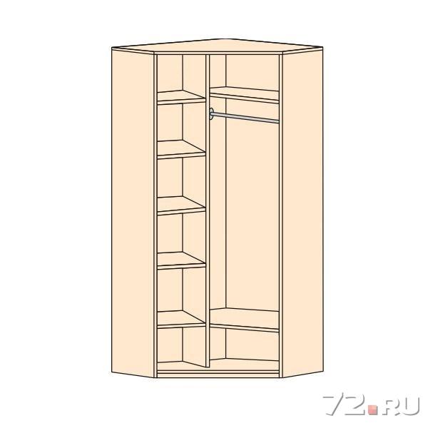 Угловой распашной шкаф своими руками