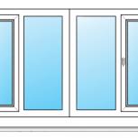 Балкон ПВХ Одностворчатые профиль 70мм стеклопакет 24мм, Тюмень