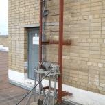Пожарная лестница, ограждение крыш, Тюмень