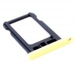 Лоток сим (SIM) карты iPhone 5С желтый, Тюмень