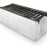 Лоток бетонный со стальной решёткой, Тюмень