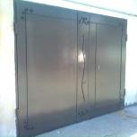 Гаражные ворота в Тюмени. Ворота из листового металла в Тюмени: в цеха, Тюмень