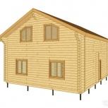 Дом из бревна с монтажом под крышу, Тюмень