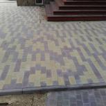 Укладка тротуарной плитки брусчатки, Тюмень