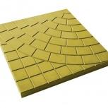 Тротуарная плитка Колодец 300х300х30 Желтая, Тюмень