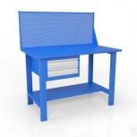 Стол слесарный с экраном и ящиком вст-Н 12/тп1-Э4, Тюмень