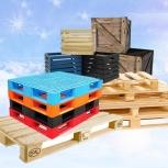Продажа ящиков и поддонов б/у, деревянных и пластиковых, Тюмень