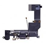 Шлейф нижний iPhone 5 SE + разъем зарядки (черный) с аудио разъемом, Тюмень