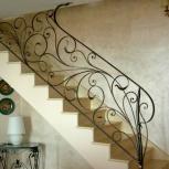 Ограждения лестниц в Тюмени (Перила) кованые, металлические, из дерева, Тюмень