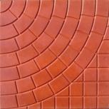 Тротуарная плитка Колодец 300х300х30 Красная, Тюмень