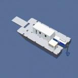 Катамаран грузопассажирский, катамаран для работ на воде, водная вахта, Тюмень