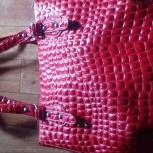 Сумка красного цвета в отличном состоянии, среднего размера.чистая, Тюмень