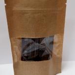 Пакет бумажный крафт дойпак с замком зип лок с прозрачным окном, Тюмень