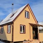 Двухэтажный дачный каркасный дом 5,5 м х 5,5 м под ключ., Тюмень