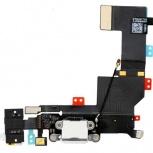 Шлейф нижний iPhone 5S + разъем зарядки (белый) с аудио разъемом, Тюмень