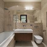Ремонт ванных комнат, сан. узлов. Укладка плитки, Тюмень