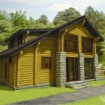 Дом из оцилиндрованного бревна, Тюмень