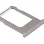 Лоток сим (SIM) карты iPhone 5S белый/серебристый, Тюмень