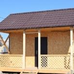 Дачный дом по каркасной технологии 5 м х 4,5 м с террасой., Тюмень