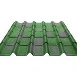 Черепица Ондувилла зеленый 3D 1060х400х3, Тюмень