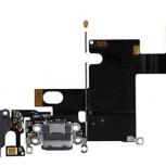 Шлейф нижний iPhone 6 + разъем зарядки (черный) с аудио разъемом, Тюмень