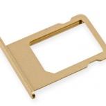 Лоток сим (SIM) карты iPhone 6S Plus золотой, Тюмень