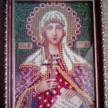 икона вышивка бисером Татьяна, Тюмень