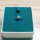 Новое кольцо из белого золота с бриллиантом, с чеком и в коробочке!, Тюмень