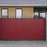 Заборы и ворота из профнастила в Тюмени под ключ, Тюмень