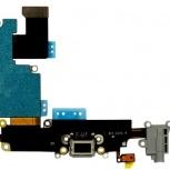 Шлейф iPhone 6S Plus с разъемом зарядки (черный) и аудио разъемом, Тюмень