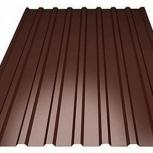 Профнастил С-8 (RAL 8017) коричневый шоколад 1200х, Тюмень