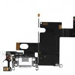 Шлейф нижний iPhone 6 + разъем зарядки (белый) с аудио разъемом, Тюмень