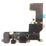 Шлейф нижний iPhone 5S + разъем зарядки (черный) с аудио разъемом, Тюмень