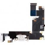 Шлейф нижний + разъем зарядки (белый) с аудио разъемом iPhone 6 Plus, Тюмень