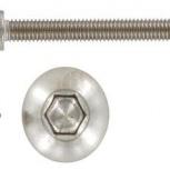 Винт 6х60 антивандальный ART 9140 с полукруглой головкой, Тюмень