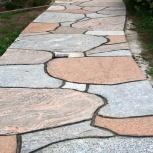 Тротуарная плитка из элитного цветного гранита, Тюмень