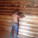 Шлифовка, обработка, Покраска деревянных домов, Тюмень