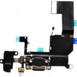 Шлейф нижний iPhone 5C + разъем зарядки (черный) с аудио разъемом, Тюмень