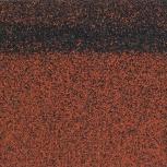 Коньково-карнизная черепица Shinglas Красный микс,, Тюмень