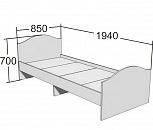Кровать 190х80 с основанием бук, Тюмень