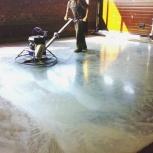 Блестящий бетонный пол (топпинг), Тюмень