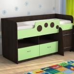 """Кровать с ящиками и столом """"антошка"""" венге, Тюмень"""